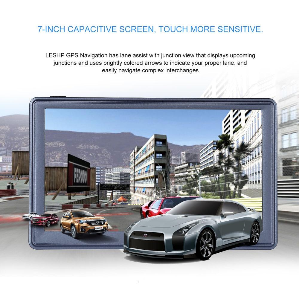 7 zoll HD Auto GPS Navigation Kapazitiven bildschirm FM 8 GB/256 MB DDR/800 MHZ Automobil Navigator fahrzeug Lkw GPS Sat nav Karte