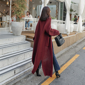 Image 3 - Colorfaith New 2020 Autumn Winter Womens Sweaters Korean Style Minimalist Solid Multi Colors Casual Long Cardigans SW8528