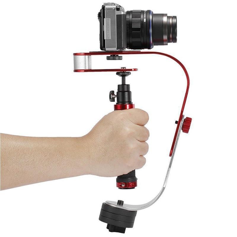 Bow Shaped Professional Handheld Video Stabilizer DV Camera Hand Grip Stabiliser Support Mount Holder For Camera Brackets