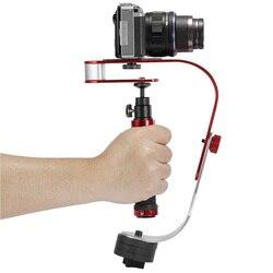 Wygięty kształt profesjonalny ręczny stabilizator kamery aparat dv ściskacz stabilizator wspornik uchwyt do uchwytów kamery na