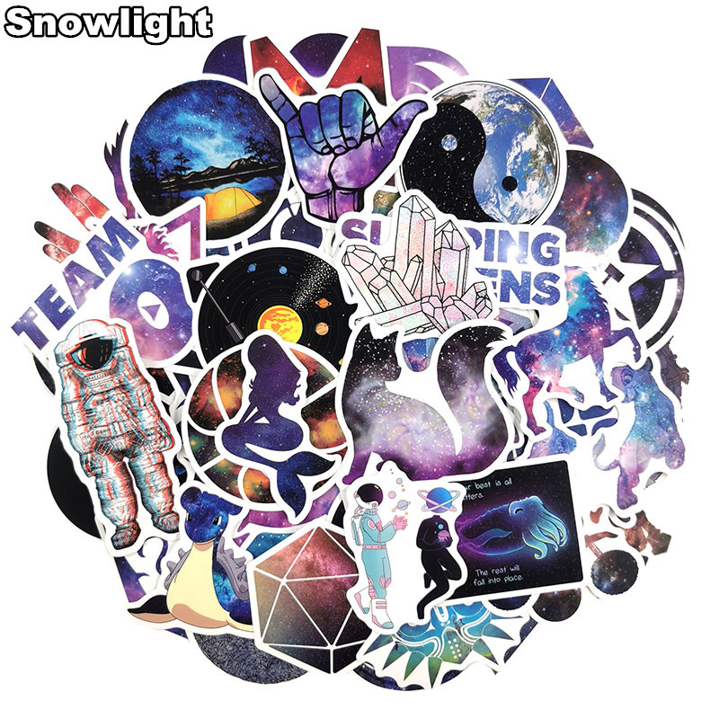 50 Pcs/lot Starry Sky Outer Space Cartoon Child Toy Sticker Luggage Case Skateboard Waterproof Personality Graffiti Sticker