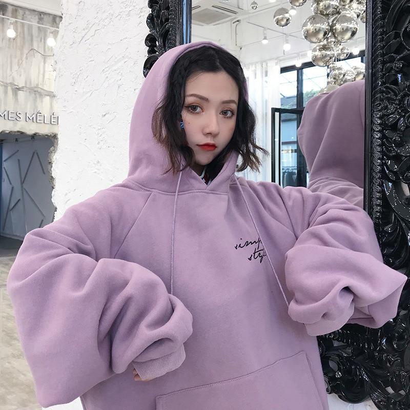 Autumn Winter Fashion Oversized Letter Print Hooded Sweatshirt For Women Outdoor Harajuku Streetwear Hoody Female Tops Pullover