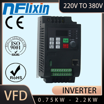 2.2KW 5A VFD Single Phase input 220v and 3 Phase Output 380V Frequency Converter/Adjustable Speed Drive/Frequency Inverter image