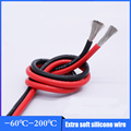DALCAN 10AWG 12AWG 14AWG 16AWG 18AWG Black and Red Silicone Wire Ultra Flexiable Test Line Cable tinned copper lamp soft Wires