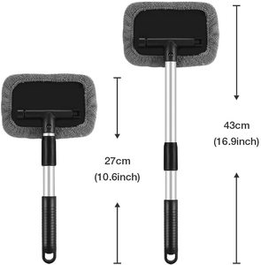 Image 5 - Windshield Cleaning Tool Microfiber Car Interior Window Cleaner with Extendable Aluminum Handle