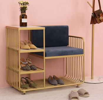 Creative Shoe Bench with 4 Layer Shoe Rack Backrest Chairs Combination Seatable Shoe Cabinet Storage Stool practical wooden shoe cabinet closet storage rack pu seat bench entryway hallway black