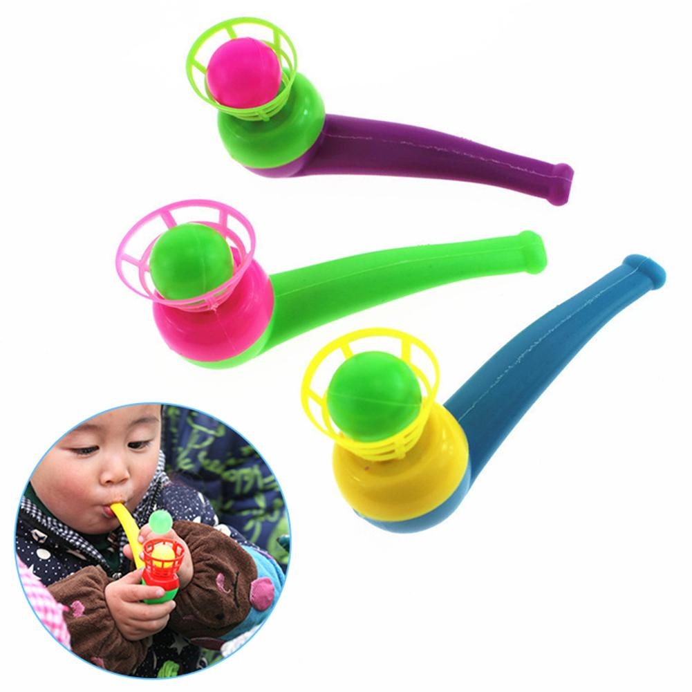 Kids Children Blowing Ball Toy Funny Colorful Kids Sport Blowing Toy Fillers Pipe Ball Game Birthday Gifts Sport Toy
