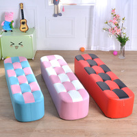 Factory Direct Sell Professional Kids' Sofa Super Affordable Baby Kids' Sofa Chair Long Sofa Stool 120cm Baby Furniture Sofa Bed