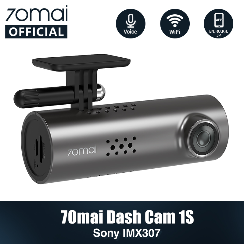 English Voice Control 70mai Car DVR Cam 1S 1080HD 70mai Cam Night Vision 70Mai Dash Cam 1S Free Wifi Recorder 70 Mai Dash Cam 1S