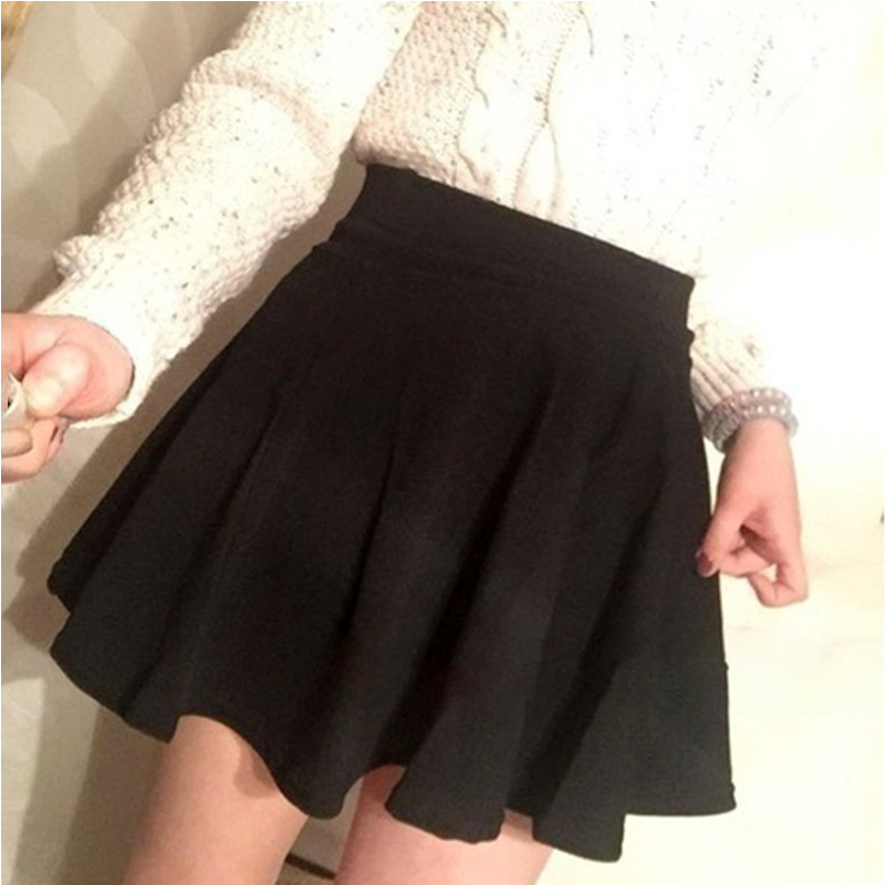 Women A-line Elastic Waist Pleated Shorts Skirts for Summer Beach &T8