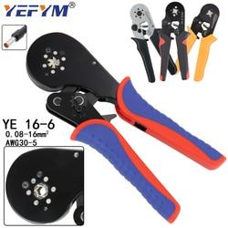 YE 16-6 0.08-16mm2 Crimping Tools Pliers Electrical Tubular Terminals Box Mini Clamp HSC8 10S/6-6/16-4 Self-Adjusting  Set