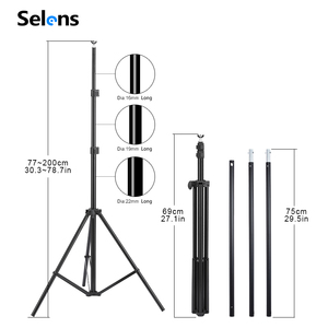 Image 3 - PHOTO BACKDROP STAND KIT Photo Studio Background Support T Shape Backdrop for Studio Photo 152cm,200cm, 260cm, 280cm, 300cm