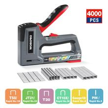 Staple-Gun Fixing-Material WORKPRO Manual DIY Heavy-Duty Two-Power-Options 6-In-1