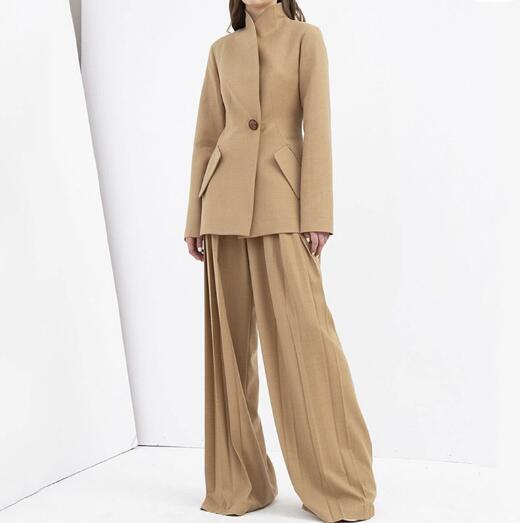 New Wide Leg Pants Korean Version Of The Wild Nine Loose Drape Female Summer Thin High Waist