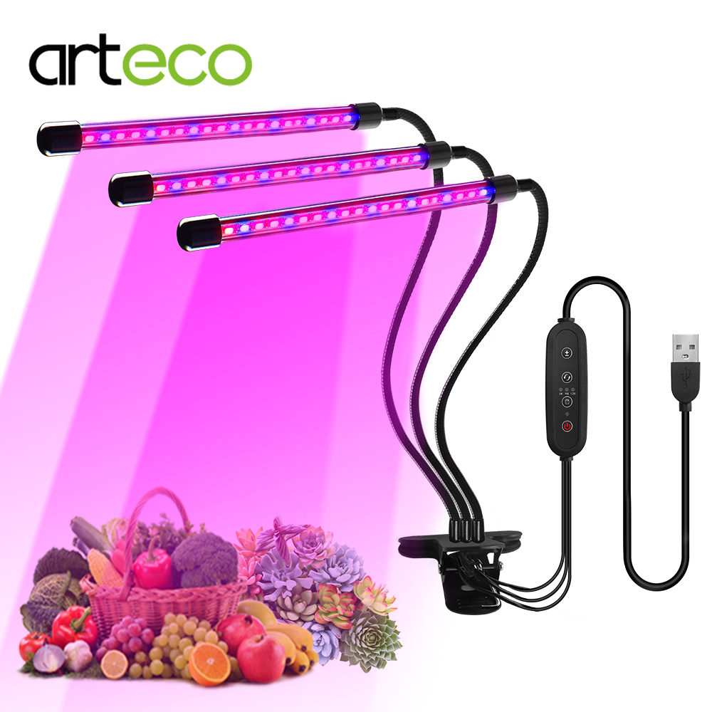 Full Spectrum Phytolamp For Plants DC 5V USB Led Grow Light 9W 18W 27W Desktop Clip For Flowers Phyto Seedlings Lamp Dimmable