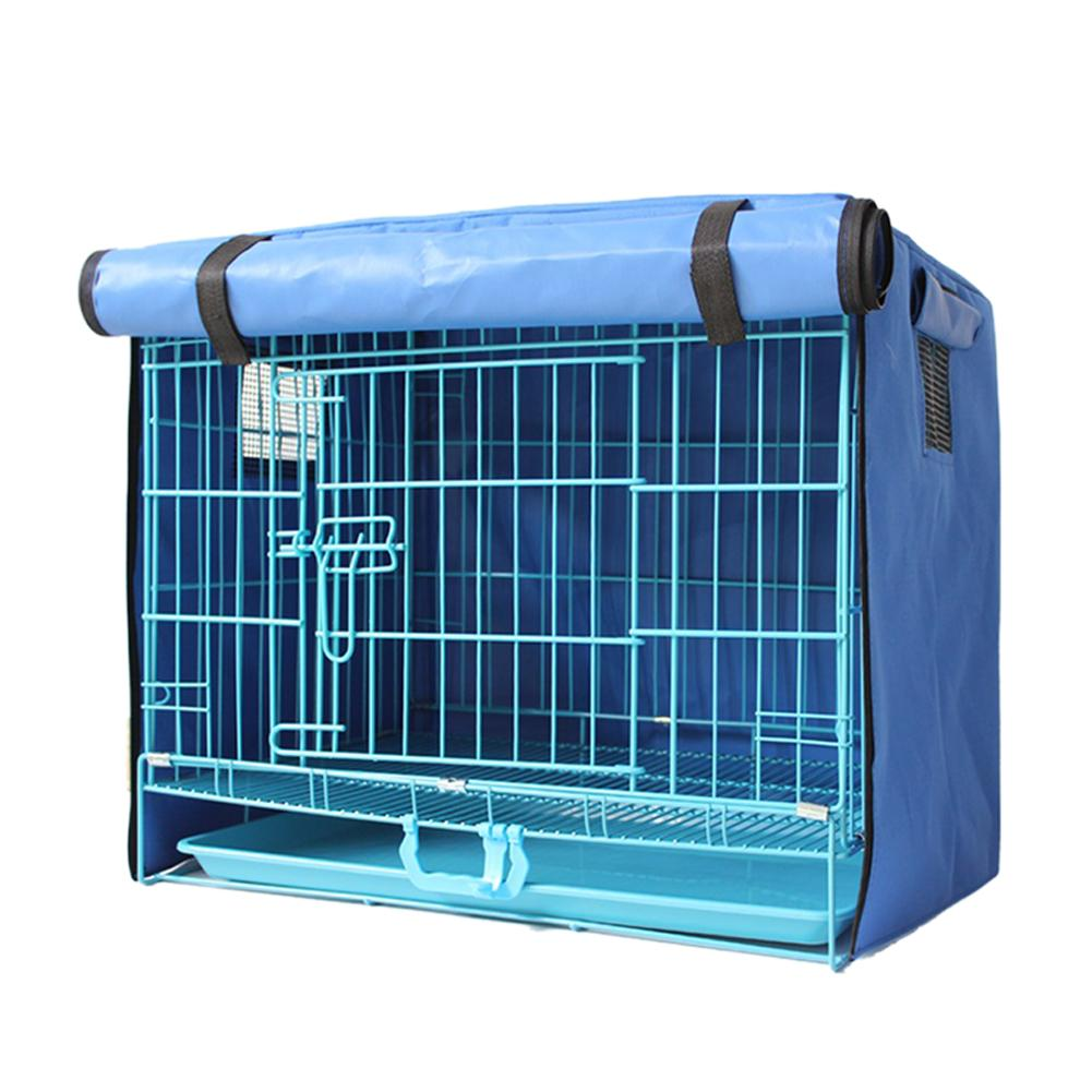 Pet <font><b>Dog</b></font> Cages <font><b>Cover</b></font> Waterproof Washable Pet <font><b>Dog</b></font> Cage <font><b>Cover</b></font> <font><b>Kennel</b></font> Accessories 4 Size Blue Oxford Puppy Cat Rabbit Crate <font><b>Cover</b></font> image
