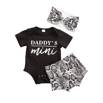 3PCS Cute Newborn Baby Girl Outfits Clothes Tops Bodysuit Shorts Pants Set 5