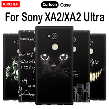 JURCHEN For Sony Xperia XA2 Phone Cases H3113 H3123 H3133 H4113 H4133 Cartoon Silicone Cover Sony XA2Ultra Dual H4233 H4213 H322
