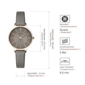 Image 5 - IBSO ブランド 8 ミリメートル超薄型クォーツ時計女性本革の女性の高級レディース腕時計 Montre ファム