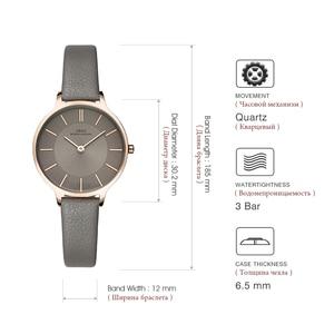 Image 5 - Ibso Merk 8 Mm Ultra Dunne Quartz Horloge Vrouwen Echt Lederen Vrouwen Horloges Luxe Dames Horloge Montre Femme