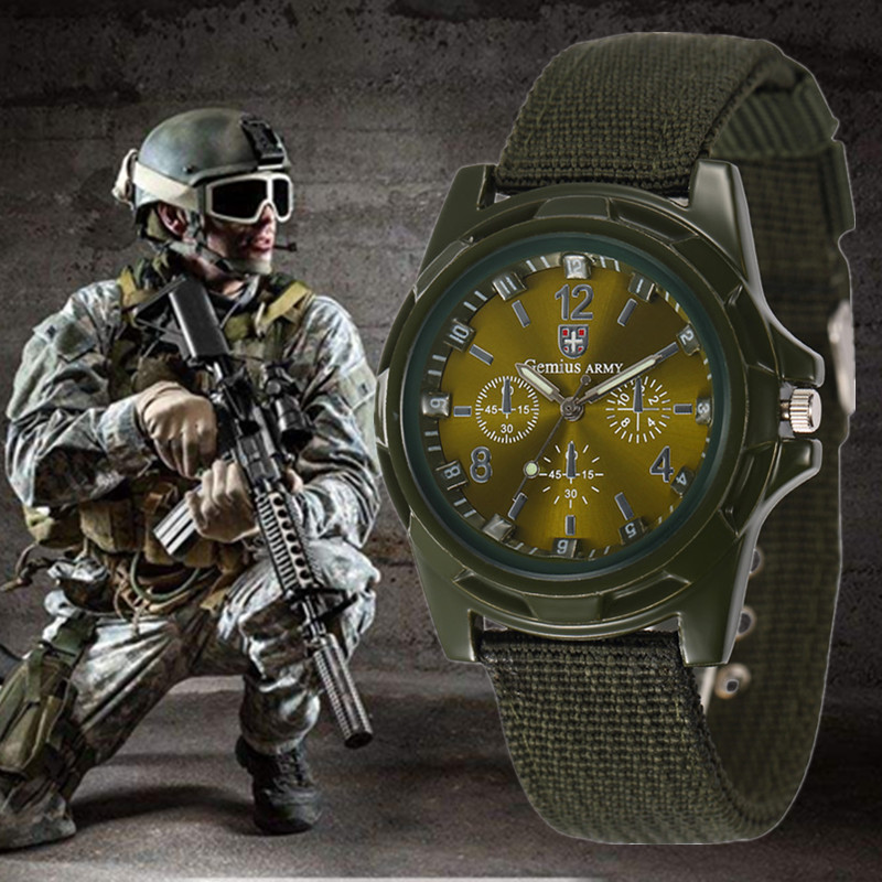 Hot Men's Nylon Band Sports Watch Gemius Army Clock Quartz Men Military Watch Casual Wristwatches Relogio Masculino Erkek Saat