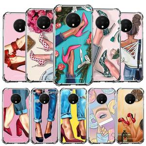 High Heeled Shoes Girl Women Case For Oneplus Nord Z 8 7 7T Pro 5G Airbag Anti-Fall Fundas Silicone Schale Tpu Phone Coque Capa