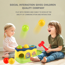 Baby hammer hitting toys kids stack hand hammering ball box toy Early Learning Educational montessori Toys Piling Hand