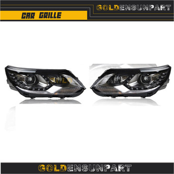 Headlights assembly 13-15 Bi-xenon Lens Projector LED DRL Forvw for tiguan