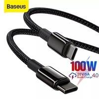 Baseus 100W USB C a USB a Cable de tipo C para Huawei carga rápida 4,0 Cable de tipo C para MacBook Xiaomi Samsung datos Cable USB C
