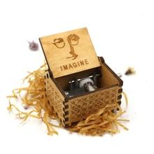 Рукоятка Красавица и Чудовище деревянная музыкальная шкатулка игра Звездные войны Рождественский подарок, подарок на год, подарок на день рождения