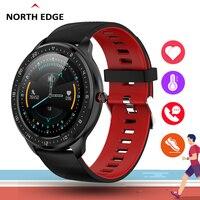 Reloj inteligente NORTH EDGE con pantalla táctil a prueba de agua IP67 para hombre  Monitor de pulso  presión arterial  Smartwatch para teléfono Android e IOS|Relojes inteligentes| |  -