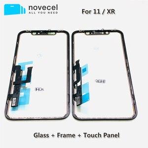 Image 1 - Novecel מגע מסך Digitizer פנל תיקון חלקי עם מסגרת עבור iPhone XR 11 מסך מגע קדמי זכוכית עדשה חיישן