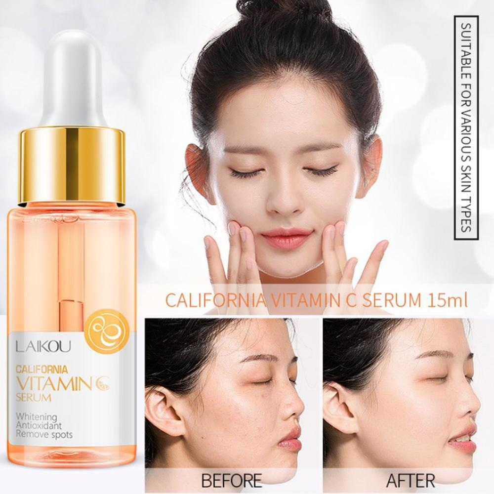 15ml Vitamin C (B) $ Laiwu Hyaluronic Acid Sakura Vitamin C24k Gold Foil Snail Solution