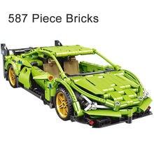 587 peça tijolos bat carro de corrida cidade modelo blocos de construção menino natal presente aniversário crianças brinquedos para crianças