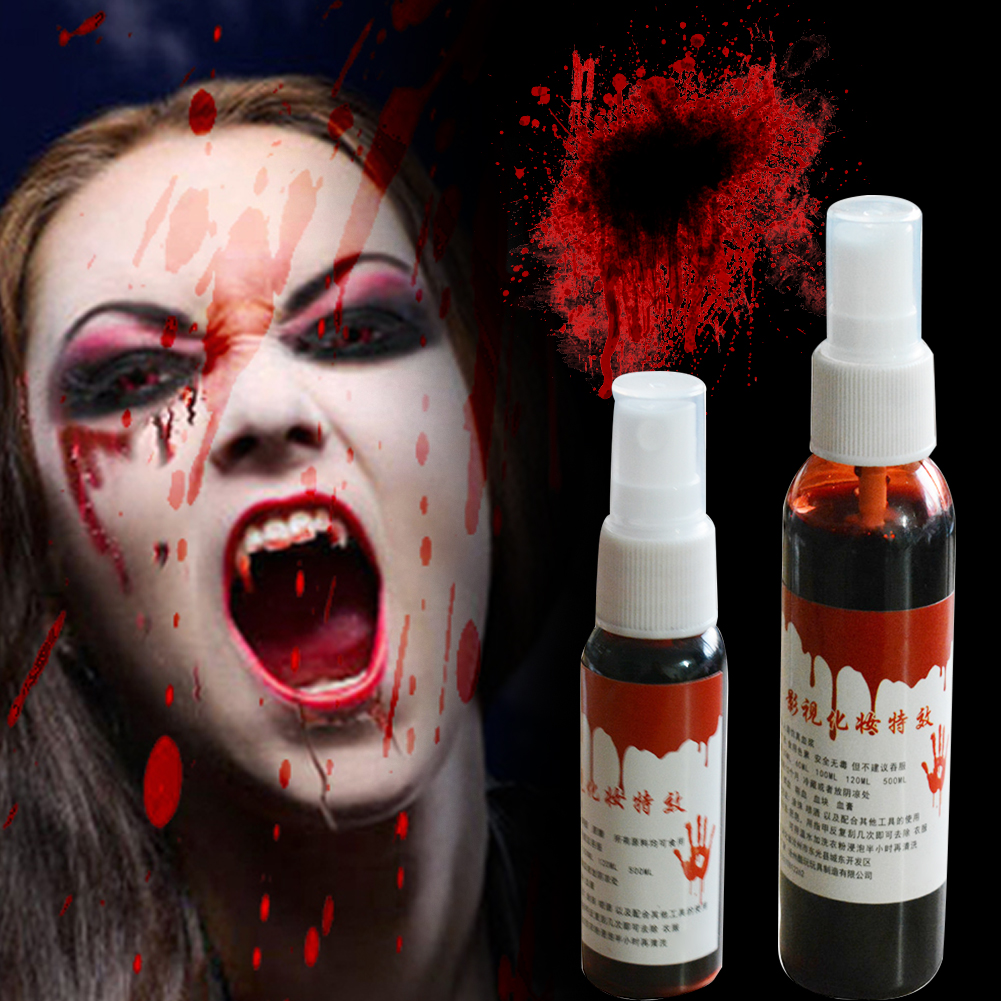 Halloween Realistic Fake Blood Zombie Makeup Accessory Cosplay Props Hot