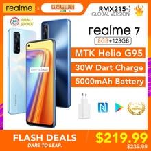 Realme 7 8GB RAM 128GB ROM Globale Version 30W Dart Ladung 48MP Quad Kamera 90Hz Display helio G95 Gaming CPU 5000mAh Batterie Neue