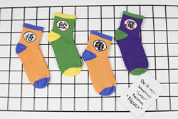 2021 Japanese and Korean style socks cartoon anime couple mid-calf stocks 4 pairs/piece