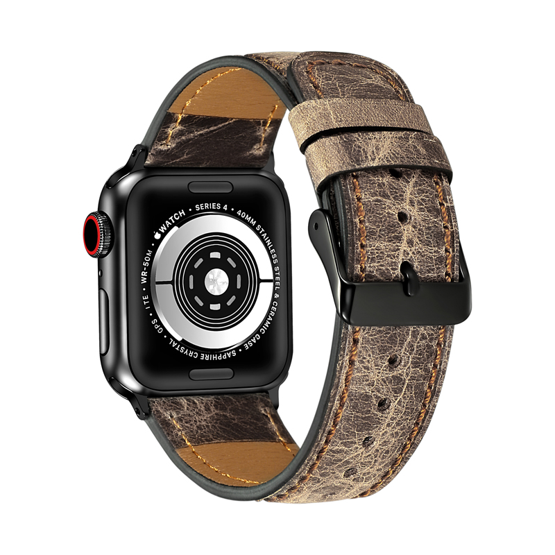 watch Accessories strap for apple watch band 42mm 38mm apple watch 4/5/3/2/1 iwatch bracelet Genuine Leather watchband
