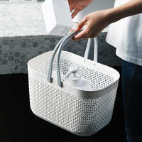 Rattan Plastic Hand Basket Bath Room Storage Baskets with Handle Household Storage Tools  Large Capacity