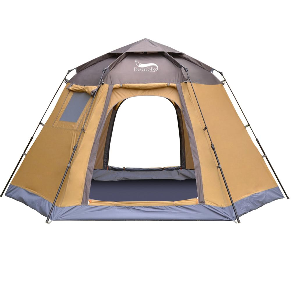 Desert&Fox Pop-up Automatic Tent 4 Person Instant Camping Tent Backpacking Family Dome Tents for Camping Hiking Travelling