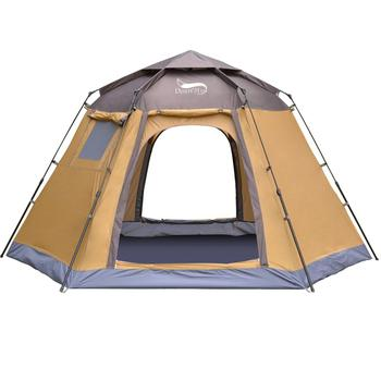 Desert&Fox Pop-up Automatic Tent 4 Person Instant Camping Tent Backpacking Family Dome Tents for Camping Hiking Travelling 2 8 people fully automatic camping tent windproof waterproof automatic pop up tent family outdoor instant setup tent 4 season