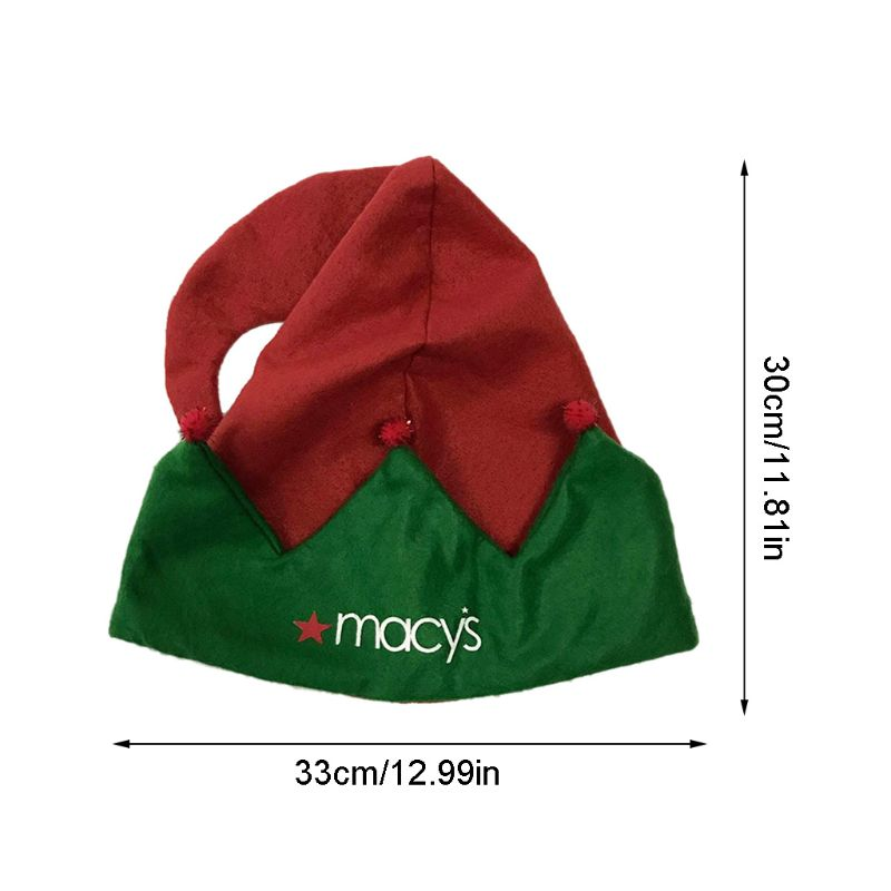 1 Pc Christmas Elf Felt Hat Xmas Holiday Party Costume Favors Gifts Accessoriess P31B