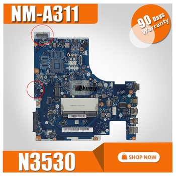 100% TESTED FREE SHIPPING ACLU9/ ACLU0 NM-A311 Laptop motherboard For Lenovo G50-30 ON BOARD CPU