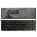 لوحة المفاتيح الروسية للوحة مفاتيح الكمبيوتر المحمول HP بافيليون AER65700010 AER65700310 SG-59800-XAA RU الأسود مع farme