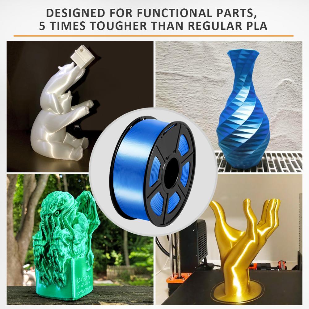 PLA Filament Silk 1kg 1.75mm Shiny Color Silk Texture High Toughness Diameter Tolerance 0.02mm FDM 3D Printer Printing Material 5