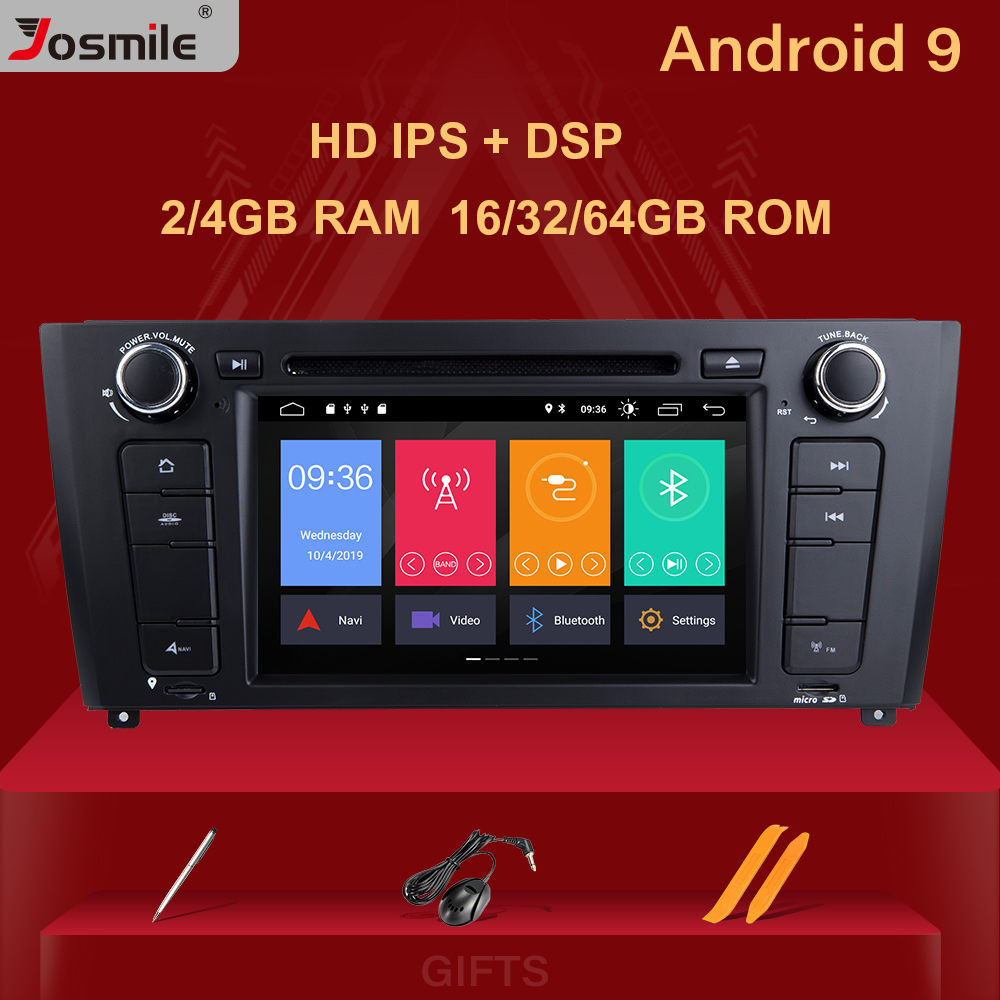 Josmile 1 <font><b>Din</b></font> Android 9.0 <font><b>AutoRadio</b></font> For BMW E87 1 Series E88 E82 E81 I20 D Audio <font><b>GPS</b></font> Navigation DVD Multimedia 4G Wifi DAB+ CD image