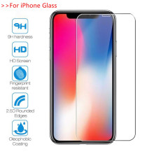 Protective Glass on iphone X XS Max XR 11 Pro Max Screen Protector Glass Film for iPhone 7 8 6 6s Plus 5 5s 5c se Tempered Glass protective tempered glass screen protector for iphone 5 5c 5s transparent
