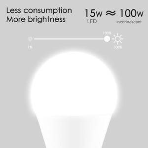 Image 5 - 15W E27 LED ampul eşit 100W akkor lamba WiFi kontrolü akıllı ev ampul uyumlu Alexa ve Google asistan