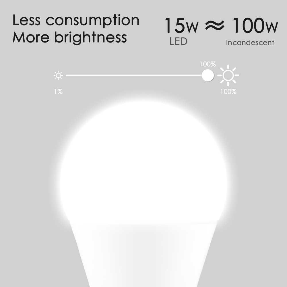 15W E27 lumière LED ampoule égale à 100W lampe à incandescence WiFi contrôle ampoule maison intelligente Compatible Alexa et Google Assistant