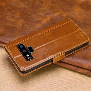 Image 5 - Lujosa funda tipo billetera con tapa para Samsung Galaxy Note 10, 9, 8, s10, S9, S8 Plus, Note 9, Note 8 y S9 Plus, funda magnética de cuero genuino para libro 360